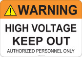 Warning High Voltage #53-708 thru 70-708