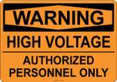 Warning High Voltage, #53-505 thru 70-505