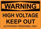 Warning High Voltage, #53-508 thru 70-508