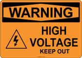Warning High Voltage, #53-509 thru 70-509