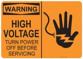 Warning High Voltage, #53-516 thru 70-516
