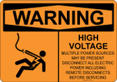 Warning High Voltage, #53-518 thru 70-518