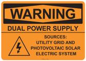 Warning Dual Power Supply, #53-529 thru 70-529