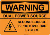 Warning Dual Power Source, #53-530 thru 70-530