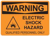 Warning Electric Shock Hazard, #53-542 thru 70-542