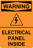 Warning Electrical Panel Inside, #53-547 thru 70-547
