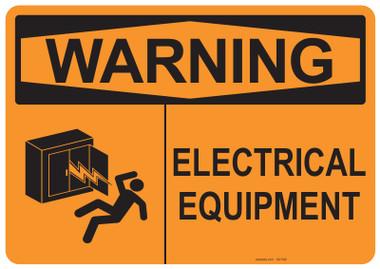 Warning Electrical Equipment, #53-548 thru 70-548