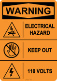 Warning Electrical Hazard, #53-611 thru 70-611