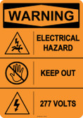 Warning Electrical Hazard, #53-613 thru 70-613