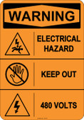 Warning Electrical Hazard, #53-614 thru 70-614