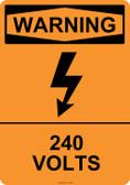 Warning 240 Volts, #53-617 thru 70-617