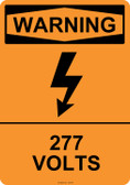 Warning 277 Volts, #53-618 thru 70-618