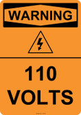 Warning 110 Volts, #53-621 thru 70-621