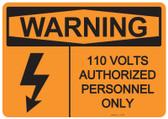 Warning 110 Volts, #53-626 thru 70-626