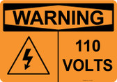Warning 110 Volts, #53-631 thru 70-631