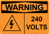 Warning 240 Volts, #53-632 thru 70-632