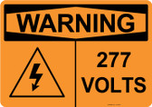 Warning 277 Volts, #53-633 thru 70-633