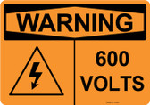 Warning 600 Volts, #53-635 thru 70-635