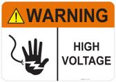 Warning High Voltage #53-711 thru 70-711