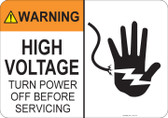 Warning High Voltage #53-716 thru 70-716