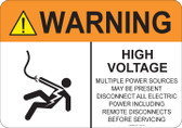 Warning High Voltage #53-718 thru 70-718