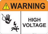 Warning High Voltage #53-719 thru 70-719