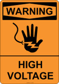 Warning High Voltage, #53-502 thru 70-502
