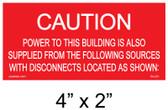 "Solar Warning Placard - 4"" x 2"" - Item #04-221"