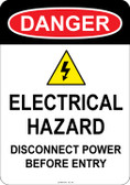 Danger Electrical Hazard, #53-140 thru 70-140