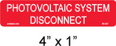 "PV Labels #03-327 - PV Solar System Disconnect Label - 1/4"" Letters"