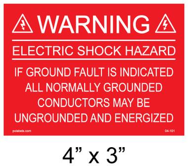"""Solar Warning Palcard - 4"""" x  3"""" - Item #04-101"""