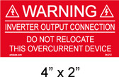 "Solar Warning Placard - 4"" x 2"" - Item #04-212"