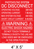 "Solar Warning Placard - 4"" x 5"" - Item #04-680"