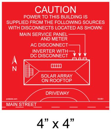 Solar Placards Solar Directory Nec 690 56 A B Pv Labels