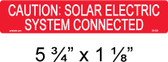 "PV Solar Caution Label  - 3/8"" Letters - Item #03-335"