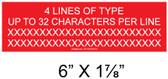 "Solar Warning Placard - 6"" x 2"" - 1/4"" Letters - Custom - Item #04-704"
