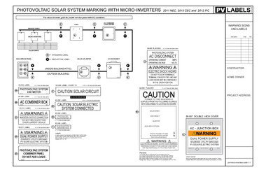 Pv System Marking Microinverter Download Pv Labels