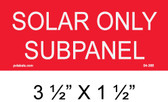 "Solar Warning Placard - 3 1/2"" x 1 1/2"" - Item #04-366"