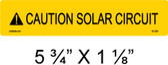 "Solar Warning Label - 5 3/4"" X 1 1/8"" - 3/16"" Letters - Item #05-329"