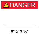 "Solar Warning Label - 5"" x 3 1/2 - Custom Ansi - Item #05-501"