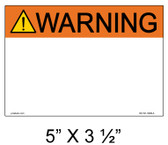 "Solar Warning Label - 5"" x 3 1/2"" - Custom - Item #05-521"