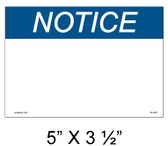 "Solar Warning Label - 5"" x 3 1/2"" - Custom - Item #05-561"