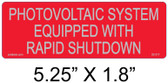 Rapid Shutdown Label - Reflective - Solar Warning Label - Item #02-317