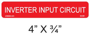 "PV Solar Warning Label - 4"" X 1"" - 1/4"" Letters - Item #03-381"