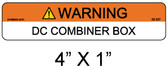"PV Solar Warning Label - 1/4"" Letters - Item 05-337"