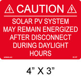 PV Labels - Solar Warning Label - #03-107