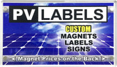 Acrylic Refrigerator Magnet - PV Labels #55-1