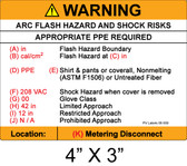 "Arc Flash Hazard Label - 4"" X 3"" - Item #05-550"
