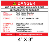 "Arc Flash Danger Label - 4"" X 3"" - Item #05-570"