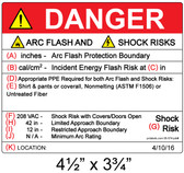 Danger - Arc Flash Hazard Label - Item #05-574